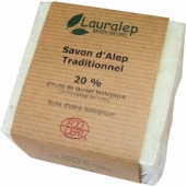 SAVON D'ALEP CERTIFIE BIO TRADITIONNEL 20%
